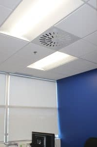 AXO-S-AB installed in a small office ceiling - New QAT Offices