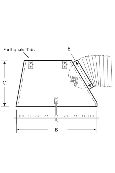 PERFAIR-SS High Performance Plenum fo Square Diffusers, Side Connection