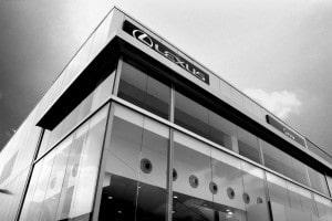 KAM-W Jet Diffuser Lexus Car Dealer Large Windowed Black and White Shot