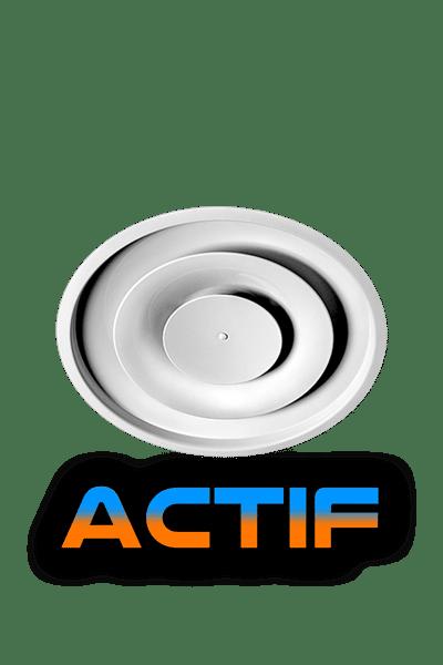 DCG-ACTIF Aluminum Thermodynamic Round Diffuser