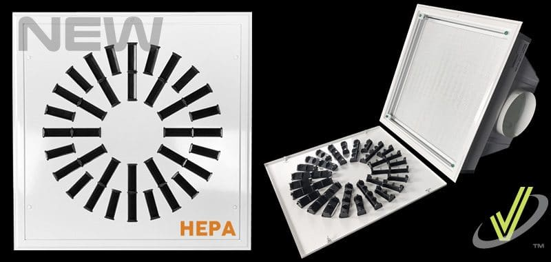 New Product: High Induction Swirl Diffuser with HEPA Filter AXO-HEPA