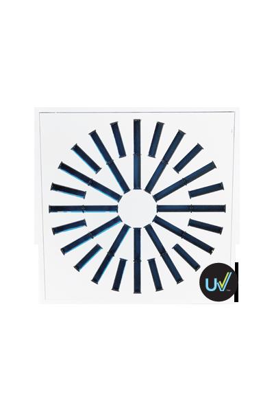 AXO-S-UV High Induction Swirl UV Diffuser for 230 cfm - 500 cfm
