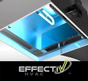 UVC lamps in UV Diffuser to irradiate airborne viruses