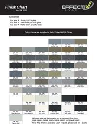 EffectiV HVAC Finish Chart
